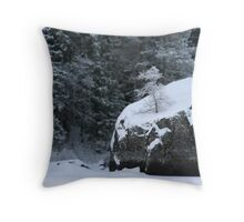 Rocks and shrubs Throw Pillow