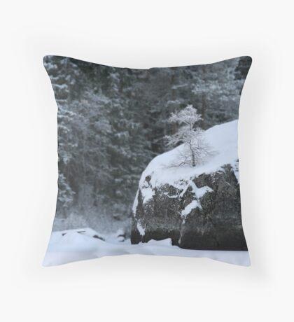 Rocks and shrubs Throw Pillow