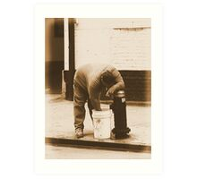 #54   A Hand In The Bucket Art Print