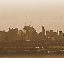 #58  A View Of Manhattan In Sepia by MyInnereyeMike