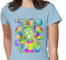 Rad 90s Space Girl! Womens Fitted T-Shirt