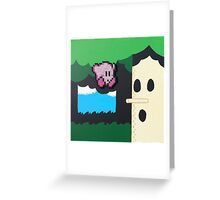 Kirby NES (Paints 'n' Beads) Greeting Card