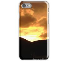 Fire in the skies over Duirinish iPhone Case/Skin