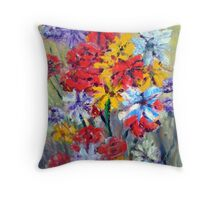 Flora colours Throw Pillow