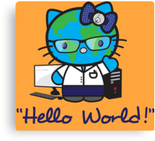 """Hello World!"" Canvas Print"