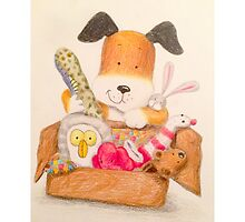 Childrens Classic kipper the dog by Art-By-Lau
