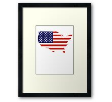 American Flag, Country Outline, America, Americana, Stars & Stripes, USA, Pure & Simple Framed Print