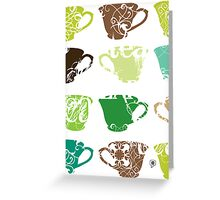 Green Tea Greeting Card