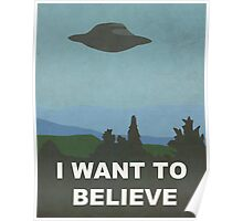 I WANT TO BELIEVE - X-FILES Poster