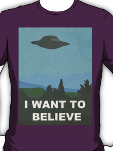 I WANT TO BELIEVE - X-FILES T-Shirt