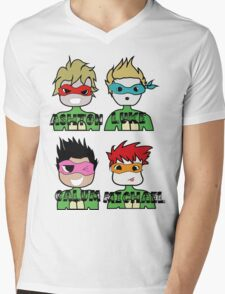TMNT 5SOS Mens V-Neck T-Shirt
