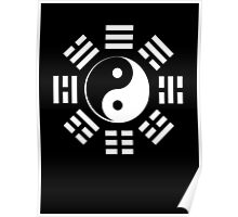 Yin Yang, I Ching, Martial Arts, Pure & simple, WHITE Poster