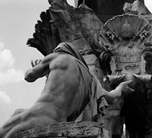 the Fountain of the Four Rivers in Rome by iristudiophoto