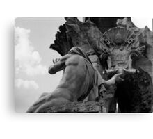 the Fountain of the Four Rivers in Rome Canvas Print