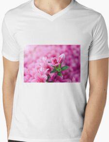 Pretty Pink Flowers Mens V-Neck T-Shirt