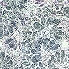 pastel color flowers pattern by kanvisstyle