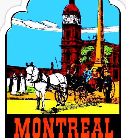 Montreal PQ Quebec Vintage Travel Decal Sticker