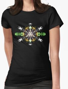 Psychedelic Snow Flake Womens Fitted T-Shirt