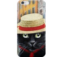 Venetian Gondolier Cat Art iPhone Case/Skin
