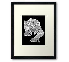 Dragon Crawl Framed Print