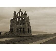 Whitby Abbey Overlooking Bay Photographic Print