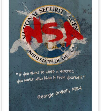 NSA Orwell Sticker