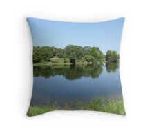 small pond Throw Pillow