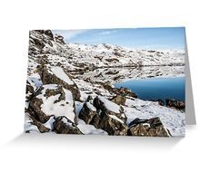 Stickle Tarn Winters Scene Greeting Card