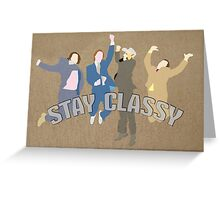 The Channel 4 news team (Stay classy) Greeting Card