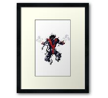 Splatter Paint Classic Nightcrawler Framed Print