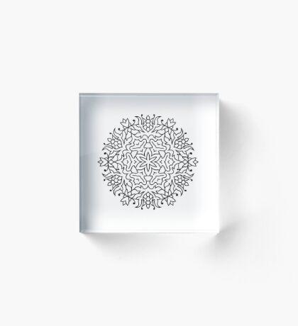 Designers luxury Mandala : black n white Acrylic Block