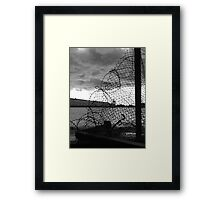 Decay: wire Framed Print
