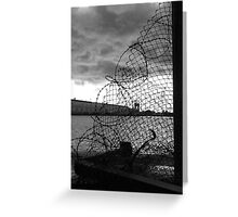 Decay: wire Greeting Card