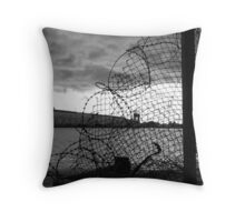 Decay: wire Throw Pillow