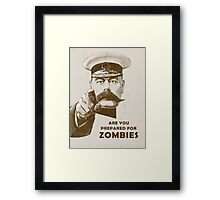 Are you prepared for ZOMBIES? Framed Print