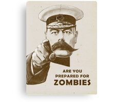 Are you prepared for ZOMBIES? Canvas Print
