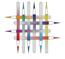 Pencil Pattern by BakmannArt