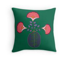 flower pot single green back Throw Pillow