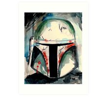 Boba Fett Illustration Art Print