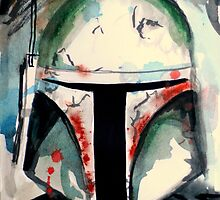 Boba Fett Illustration by clairewhitehead