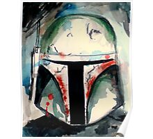 Boba Fett Illustration Poster