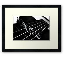 Treble Clef Framed Print