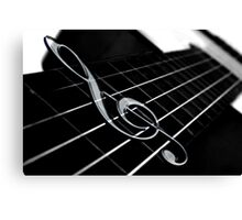 Treble Clef Canvas Print