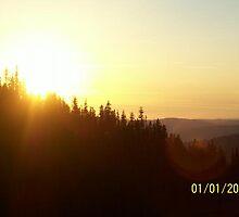 Sunset in the Sierra Nevadas by holleybear420