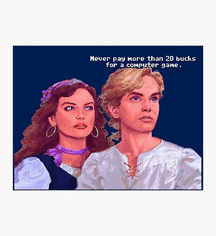 Guybrush and Elaine Photographic Print