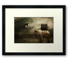 An Attempt To Tip the Scales Framed Print
