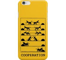 What Is Cooperation? iPhone Case/Skin