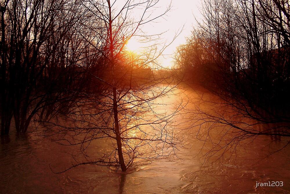 sunset flood by jram1203