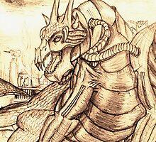 Dragon Vigil by xanthier