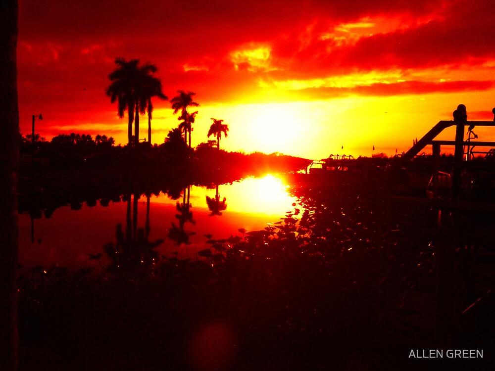 sunset by ALLEN GREEN